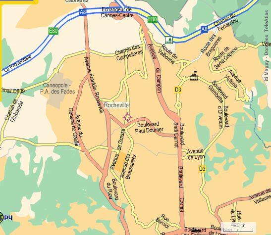 plan de la ville du cannet